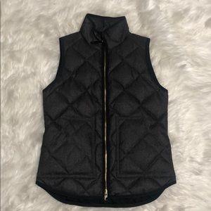 J.Crew quilted vest xxs